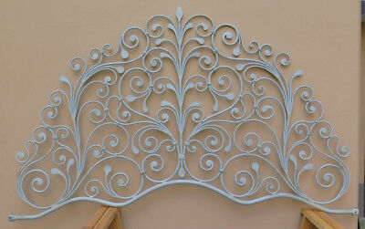 Bed Header for Double Bed Wrought Iron a Tail Peacock Vintage Headboard 3