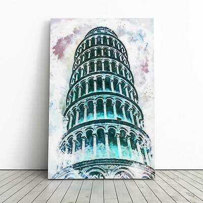 Italy Pisa Abstract  Landmarks BOX FRAMED CANVAS ART Picture HDR 280gsm