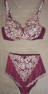 12/12C Warners Irresistibly Yours Vintage New Lace Overaly Pantie - UW Bra Set