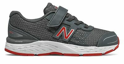 New Balance Kid's 680v5 Big Kids Male Shoes Grey with Red
