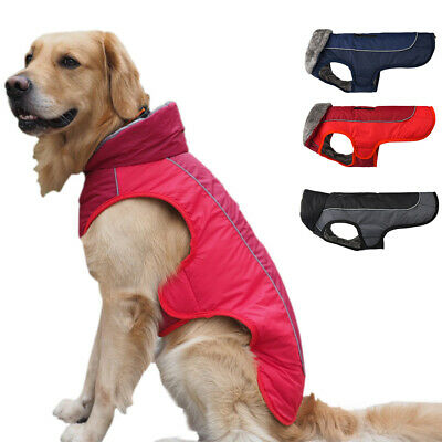 UK Dog Clothes Winter Waterproof Pet Dog Coat Jacket Fashion Vest Small Large
