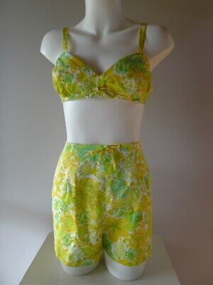 Vintage Retro 60s 10 S Bra C 2 pc Swimsuit play suit. very good Lily pulitzer
