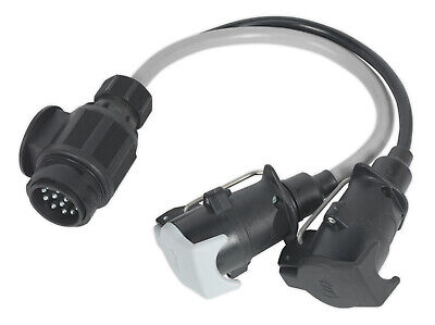Sealey Tb55 Conversion Lead 13-Pin Euro To 7-Pin N And S Type Plugs 12V
