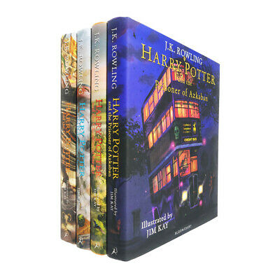 Harry Potter The Illustrated 4 Books Collection Set By J.K.Rowling