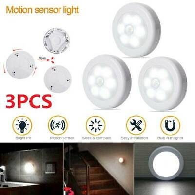 Indoor 3x6 LED Motion Sensor Night Light Outdoor Battery Operated Stairs Hallway