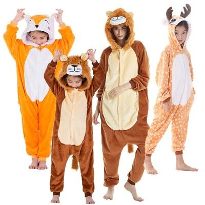 NEW Unisex Adult Kids Sleepwear Onesie11 Animal Pajamas Kigurumi Cosplay Costume