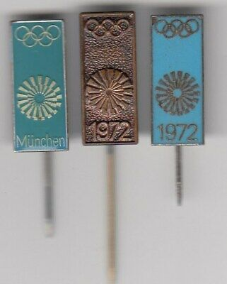 3 pins pin badge anstecknadel Olympic Olympics Games MUNICH 1972 München Olympia