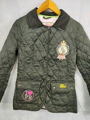 Girls Coat Paul's Boutique Size Small Black Quilted Coat Jacket Button Up