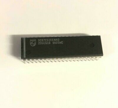 1 x P87C380AER Microcontrollers for monitors with DDC int Philips DIP-42 1pcs