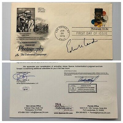 Polaroid Founder Inventor Edwin Land Signed Autograph First Day Cover FDC JSA