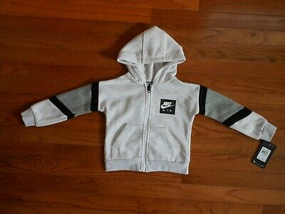 size 2T /& 4T NWT Nike Air Toddler Boys grey heather hoodie