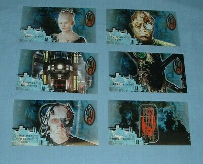 (6) Star Trek, 1St Contact, Plastic Chase Cards - Skybox - 1996 - Exc. Cond.