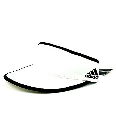 adidas Mens Performance High Crown Visor White Adjustable One Size Fits Most Hat