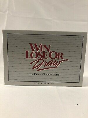 Win Lose or Draw game - vintage 1987 - complete