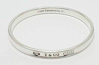 Authentic Tiffany & Co 1837 Sterling Silver 1997 Bangle Bracelet Size 32.2 Grams