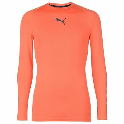 Puma NXT Baselayer Shirt Mens Orange Football Soccer Compression Top