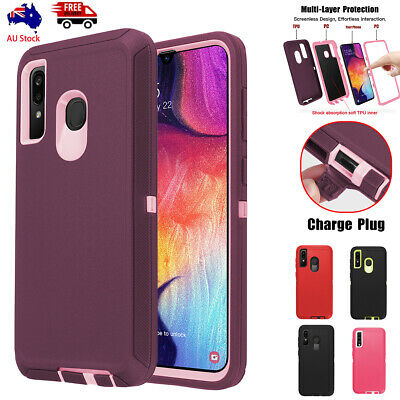 For Samsung Galaxy A20 A30 Heavy Duty Hybrid Armor Rugged Shockproof Case Cover
