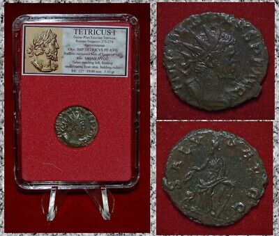 Ancient Roman Empire Coin TETRICUS I Salus Museum Quality Coin!