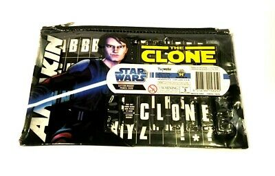 STAR WARS - THE CLONE WARS PENCIL CASE (wth Letter Insert) - NEW *FREE SHIPPING*