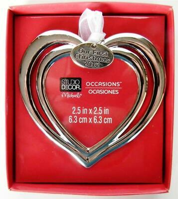 Christmas Tree Ornament Photo Picture Frame Heart Valentines Day 2012 - NEW
