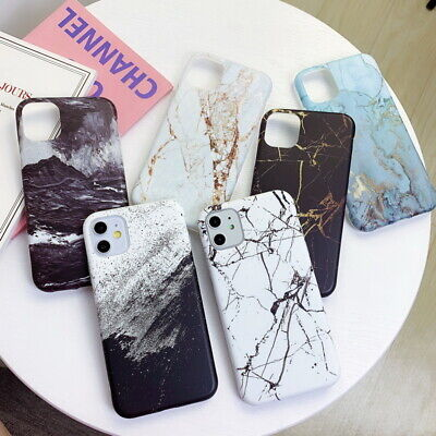 For iPhone 11 Pro Max XR Xs 7 8 Plus 6 IMD Marble Pattern Soft Phone Case Cover