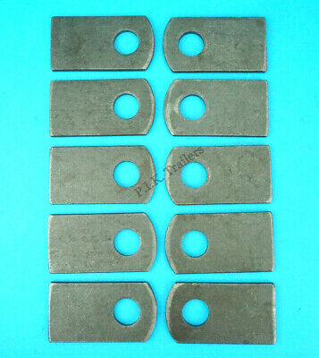 10 x Weld-on Eye Plates for M12 Antiluce Drop Lock Catch Side Tail Gate Fastener