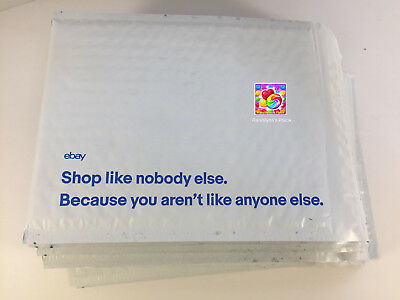 "15 x Blue Print eBay-Branded Padded Airjacket Envelopes 6.5"" x 8.75"""