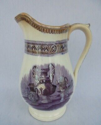 Antique Scottish Pottery Jug / Pitcher Depicting Classical Urns