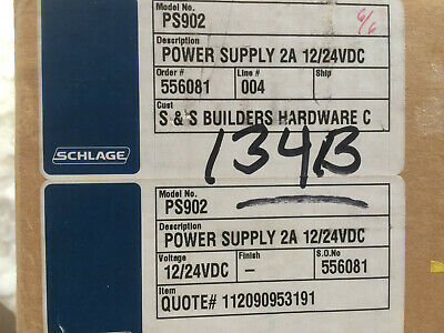Schlage power supply 2A 12/24VDC Model # PS902