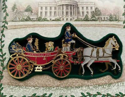 White House Historical Association Christmas Ornament 2001 New w Box