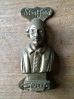 Vintage Brass Door Knocker Stratford Figure Small Antique
