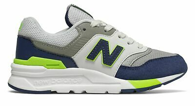New Balance Kid's 997H Big Kids Unisex Shoes Blue with Green