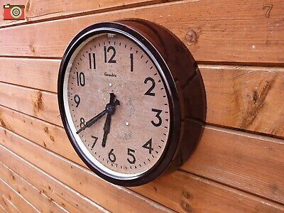 Vintage Large Bakelite Genelex Wall Clock. Restored & Updated. No Wires! Lovely!