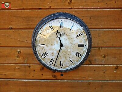 Vintage Smiths Sectric Wall Clock. All Metal Case. Restored & Updated. No Wires
