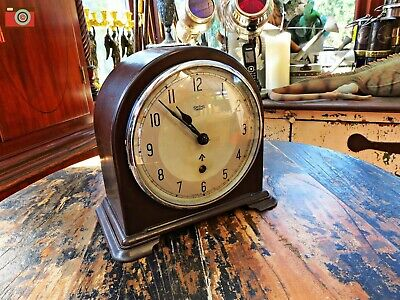 Vintage Smiths War Dept Military Bakelite Desk Clock. Broad Arrow. Restored