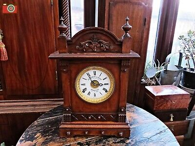 Antique Clock. Frattorini & Sons Patent Alarm Clock Circa 1890. Restored. Vgc