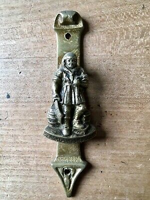 Vintage Brass Door Knocker Blackgang Chine Smugglers Small Antique