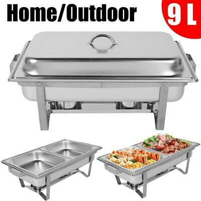 Stainless Steel Chafing Dish Breakfast Stove Caterer Food Warmer Tray Restaurant