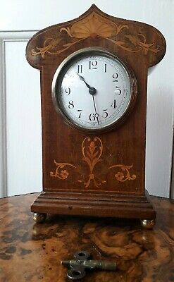 Antique Art Nouveau Mantel Clock working Order
