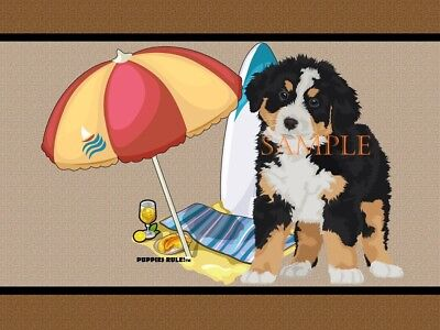 Puppies Rule Bernese Mountain Dog Beach Buddy House Decor Door Mat Floor Rug