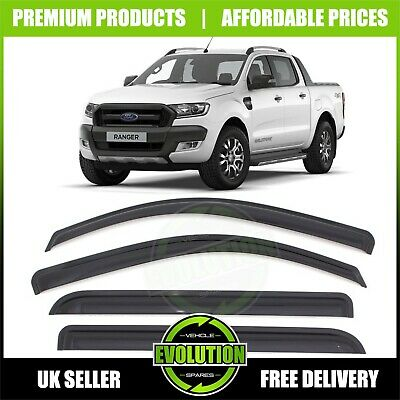 For Ford Ranger T5 T6 2012-2018 Wind Rain Smoke Deflectors Visors External Fit
