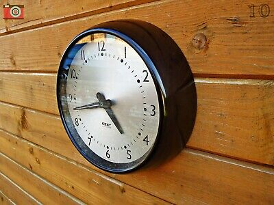 Gent Of Leicester Retro Wall Clock. Bakelite. Restored & Updated. No Wires.