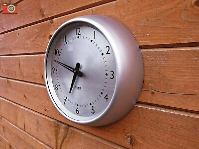 Gent Of Leicester Silver Retro Wall Clock Bakelite. Restored, Updated. No Wires