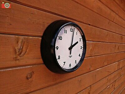 Chloride Gent Of Leicester Black Retro Wall Clock Bakelite. Restored, Updated