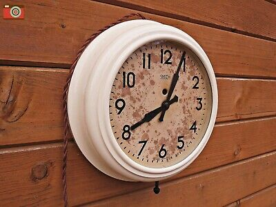 Vintage Smith Electric Wall Clock, Bakelite. Painted Cream Finish. Restored
