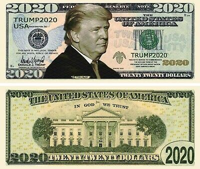 25 pcs Donald Trump 2020 Dollar Bill Presidential MAGA Novelty Funny Money