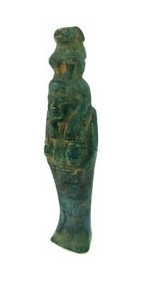 Shabti W/T Hieroglyphs & Baboon Babi God Egypt Ushabti Ancient Antique Statue