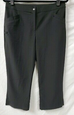 Zenergy Golf by Chico's Brown Capri Crop Pants Size 0.5 Small  Pockets