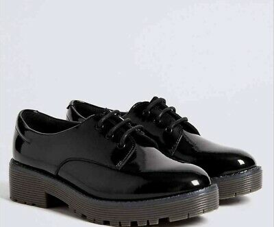 Marks And Spencer Kids' Leather School Shoes SIZE 2 M&S BNWT