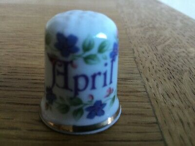 The Janvier Month Thimble Fine Bone China Collectible Thimbles Gift January